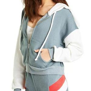Wildfox Textercising Milk Run zip up hoodie sz M